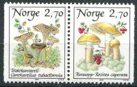 (1987) MiNr. 969 - 970 ** - Norsko - Houby