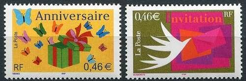 Francie - poštovní známky