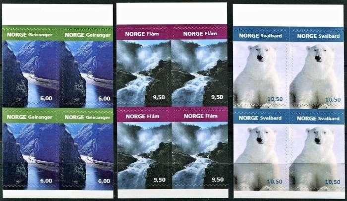 Norsko - příroda - poštovní známky