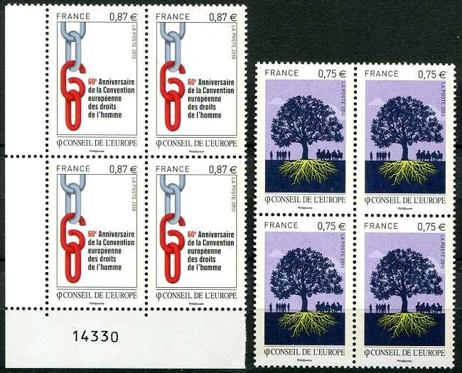 Rada Evropy - poštovní známky