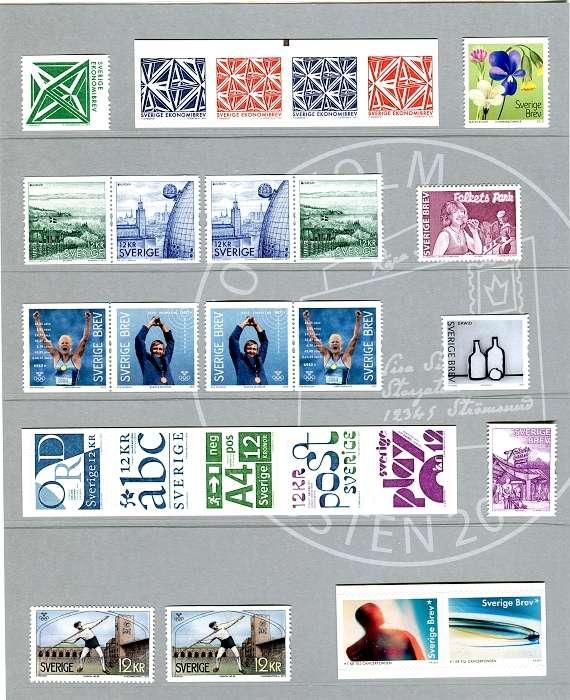 Švédsko - poštovní známky