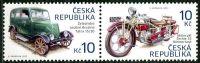 Zobrazit detail - (2013) č. 768 - 769 ** - Česká republika - 2-bl - Historické dopravní prostředky