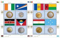 (2013) MiNr. 838 - 845 ** - PL - OSN Ženeva - Vlajky a mince