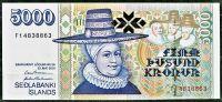 Island - (P 60c) 5000 Kronur (2001) - UNC