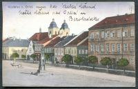 Zobrazit detail - Kostelec nad Orlicí - náměstí (1918)