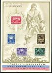 (1945) A 408 - 412 ** - Československo - 1. výročí SNP