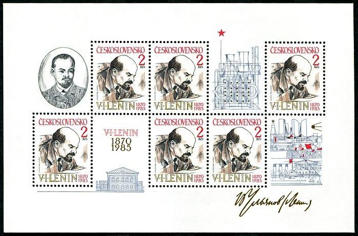 (1985) A 2688 ** - ČSSR - 115. výročí narození V. I. Lenina
