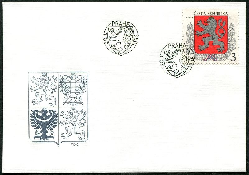 (1993) FDC 1 - Malý státní znak