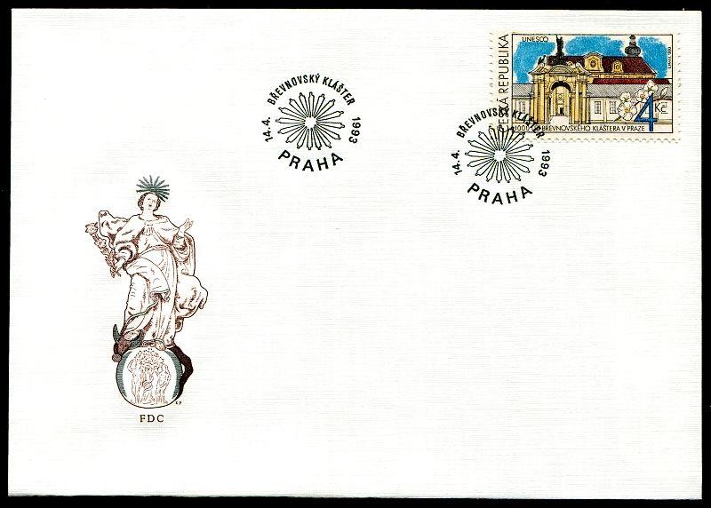 (1993) FDC 7 - Klášter Břevnov - UNESCO
