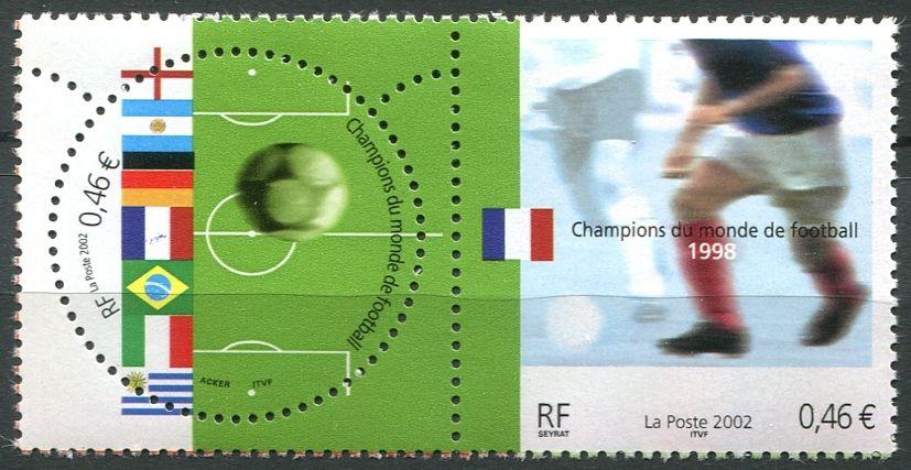 MiNr. 3620 - 3621 ** - Francie - Mistři světa ve fotbale v roce 1998