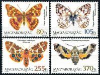 Zobrazit detail - (2011) MiNr. 5520 - 5523 ** - Maďarsko - Motýli