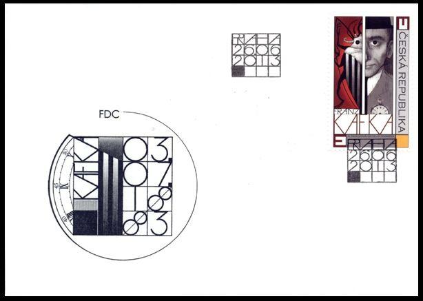 Česká pošta (2013) FDC 771 - Franz Kafka