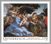 (2013) MiNr. 3101 ** - Rakousko - Lorenzo Lotto - Maria s dítětem