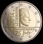 (2014) 2€ - Lucembursko - 175. výročí nezávislosti (BU)