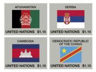 (2014) MiNr. 1400 - 1403 ** - OSN - série Vlajky 2014