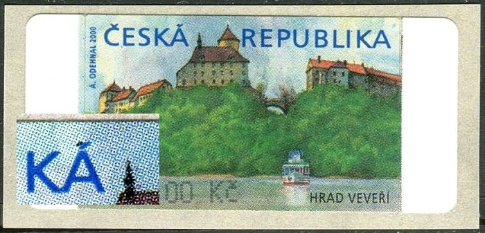 """AU 1 - ( 0,40,-) - VV - černý odv """"Á"""" - Česká"""