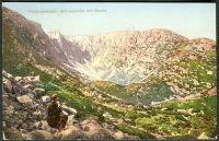 Krkonoše - Riesengebirge, Schneegrube mit Baude