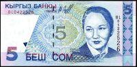 Kyrgyzstán (P13) - 5 Som (1997) - UNC