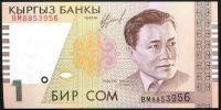 Kyrgyzstán (P15) - 1 Som (1999) - UNC