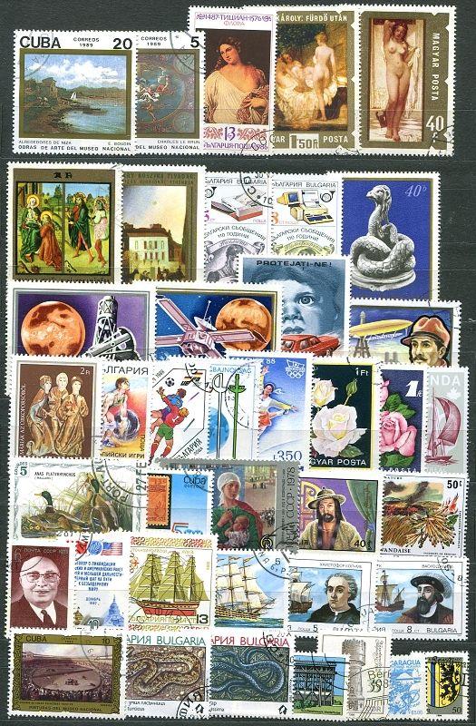 Balíček 40 ks známek