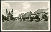 Vamberk - náměstí (50. léta)