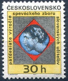 (1971) č. 1892 ** - ČSSR - 50 let Pěvec. sboru slovenských učitelů