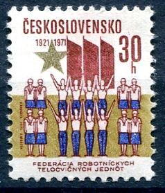 (1971) č. 1910 ** - ČSSR - 50. výročí FDTJ