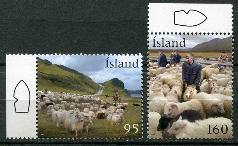 (2009) MiNr. 1247 - 1248 ** - Island - chov ovcí
