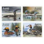 (2013) MiNr. 371 - 374 ** - Aland - zn. sešitek - WWF ptáci