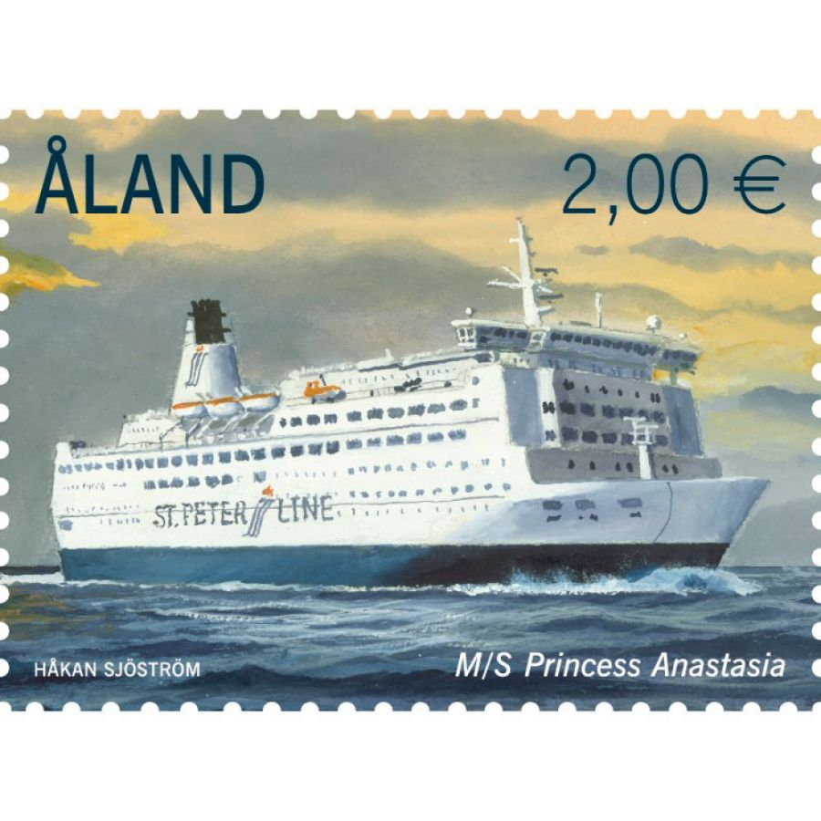 "(2013) MiNr. 381 ** - Aland - Loď ""Princess Anastasia"""