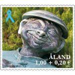 (2013) MiNr. 383 ** - Aland - Modrá stuha