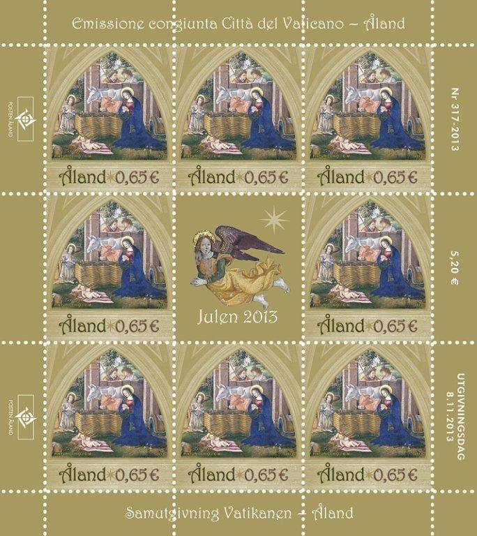 (2013) MiNr. 384 ** - Aland - PL - Vánoční známka