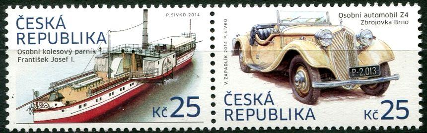 (2014) MiNr. 808 - 809 ** - Tschechische Rep. - Historische Verkehrs