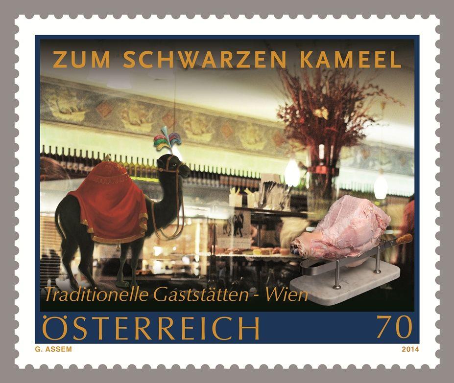 (2014) MiNr. 3129 ** - Rakousko - Stravování s tradicí - Zum Schwarzen kameel