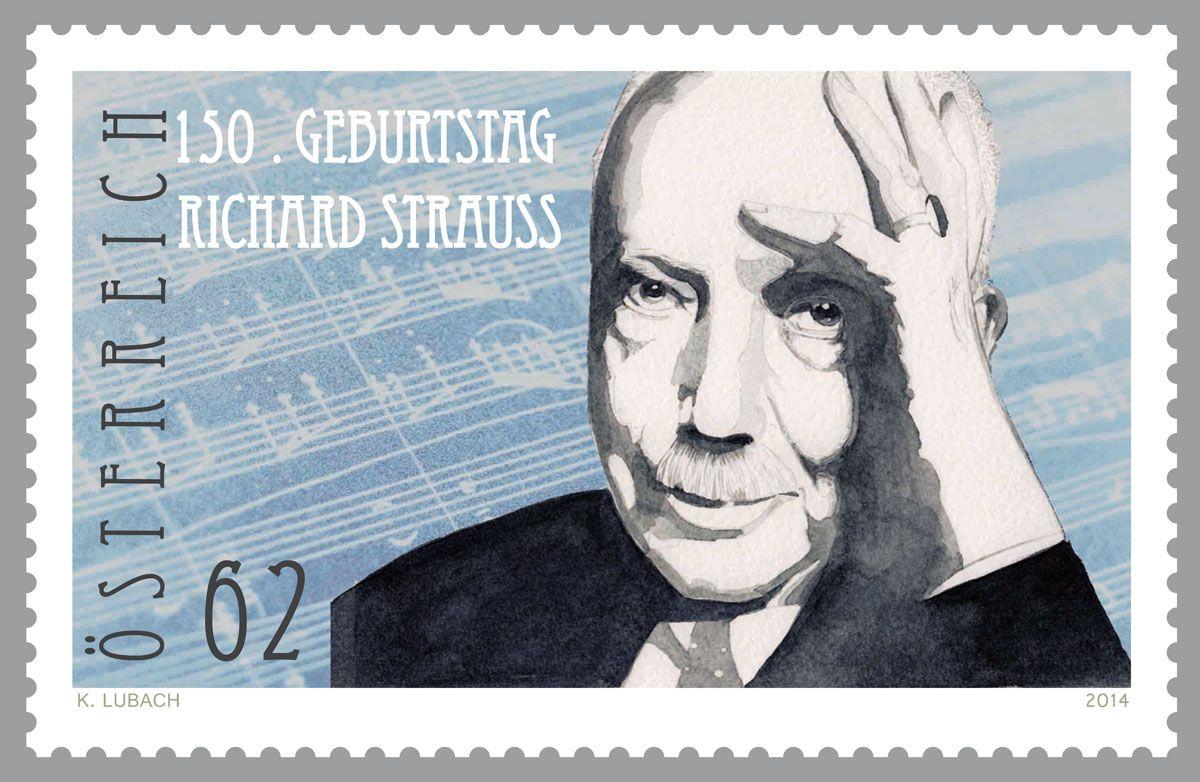 (2014) MiNr. 3144 ** - Rakousko - Richard Strauss