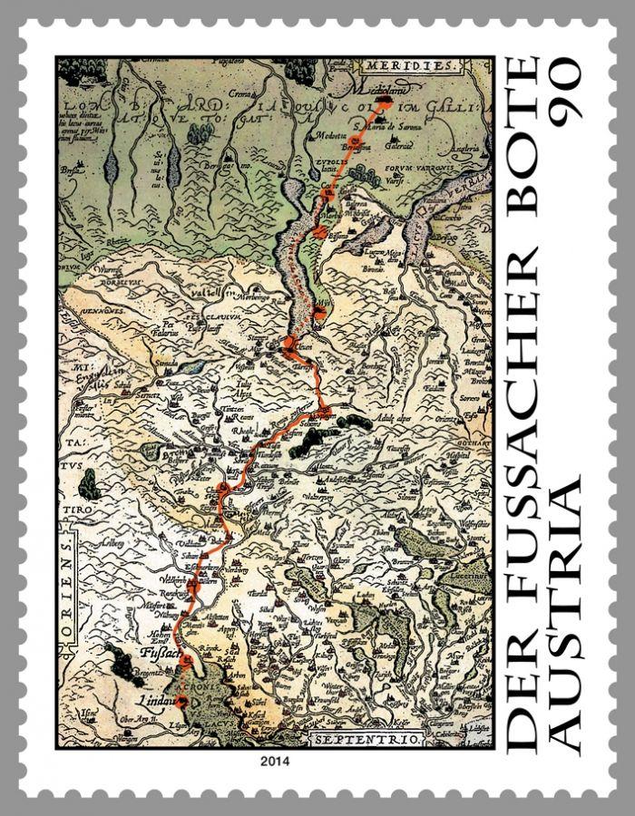 (2014) MiNr. 3160 ** - Rakousko - Cesta na Fußacher Messenger