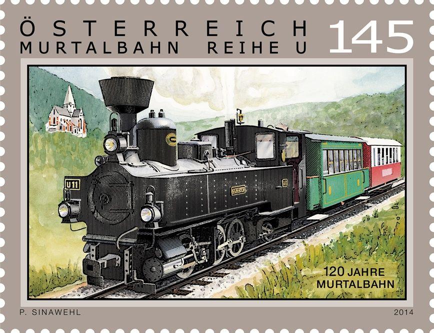 (2014) MiNr. 3163 ** - Rakousko - Železnice - 120 Let Murtalbahn