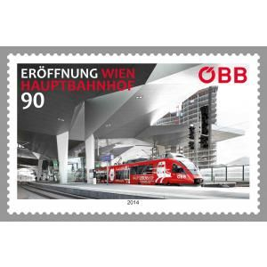 (2014) MiNr. 3164 ** - Rakousko - Otevření hlavního nádraží - Vídeň