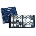Album for coin holders with 10 sheets for 20 coin holders each