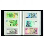 Album for 300 banknotes, black, with 100 integrated clear sheets