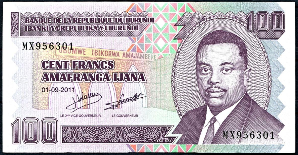 Bankovky - Burundi