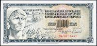 Jugoslávie - (P92d) 1000 DINARA 1981 - UNC