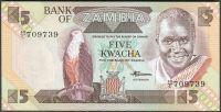Zambie - (P 25d) 5 Kwacha (1986) - UNC