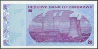 Zimbabwe - (P 95) 20 dollars (2009) - UNC