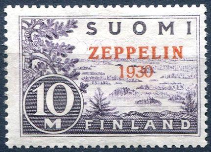 (1930) MiNr. 161 * - Finsko - Graf Zeppelin