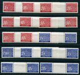 Zobrazit detail - (1939) č. DL 1-14 ** - B.ü.M. - meziarší 2 zn. - Doplatní známky