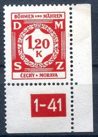 (1941) č. SL 7 ** - Protektorát Čechy a Morava - Služební známky