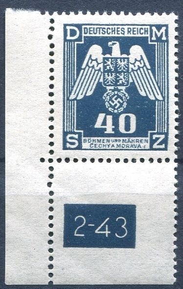 (1943) č. SL 14 ** - Protektorát Čechy a Morava - Služební známky - 2. náklad