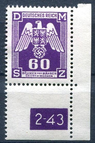 (1943) č. SL 16 ** - Protektorát Čechy a Morava - Služební známky - 2. náklad