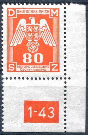 (1943) č. SL 17 ** - Protektorát Čechy a Morava - Služební známky 1. náklad
